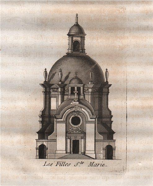 Associate Product PARIS. Les Filles Sainte-Ma. Aquatint 1808 old antique vintage print picture
