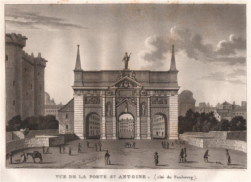 Associate Product PARIS. Porte Saint-Antoine (Côtè du Faubourg) . Aquatint 1808 old print