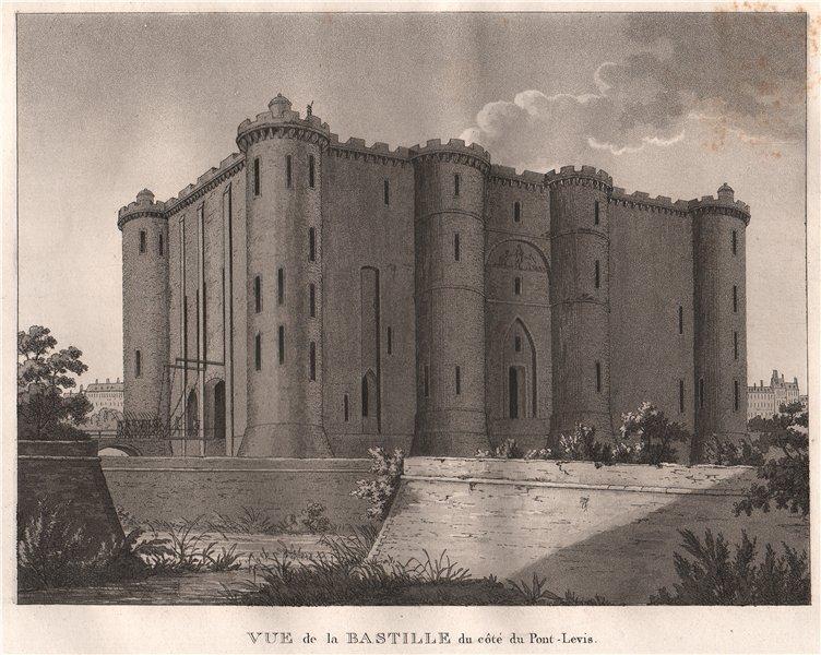 Associate Product PARIS. Bastille du Côté du Pont-Levis. Aquatint 1808 old antique print picture