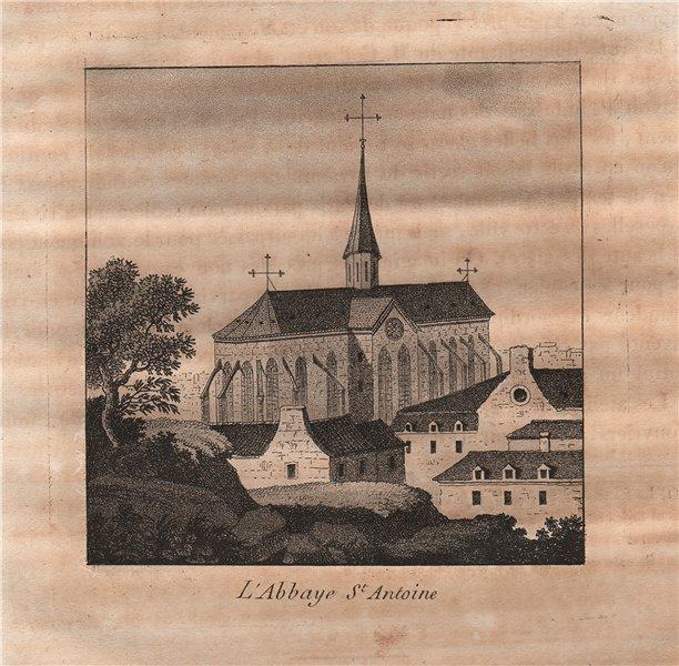Associate Product PARIS. Abbaye Saint-Antoine. Aquatint 1808 old antique vintage print picture