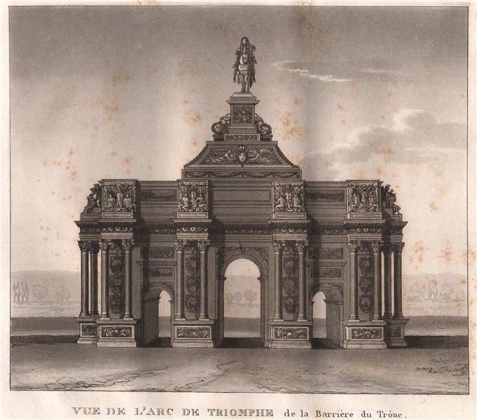 Associate Product PARIS. Arc de Triomphe de la Barrière du Trône. Place de la Nation.Aquatint 1808