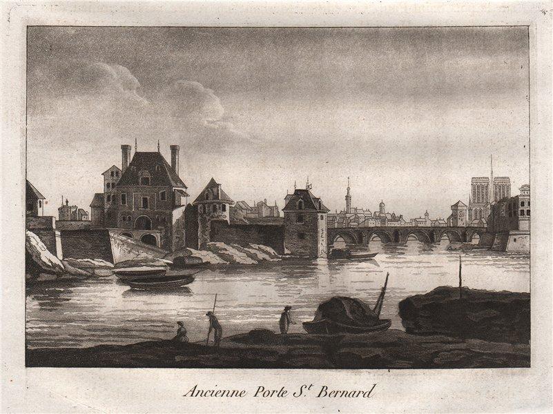 Associate Product PARIS. Ancienne Porte Saint-Bernard. Aquatint 1808 old antique print picture