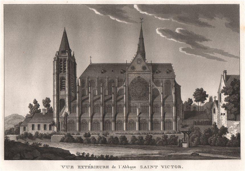 Associate Product PARIS. Abbaye Saint Victor. Aquatint 1808 old antique vintage print picture