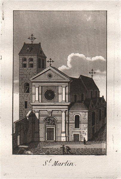 Associate Product PARIS. Saint-Martin. Aquatint. SMALL 1808 old antique vintage print picture