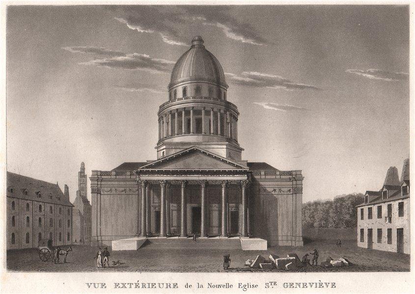 Associate Product PARIS. Nouvelle Eglise Sainte-Geneviève. Aquatint 1808 old antique print