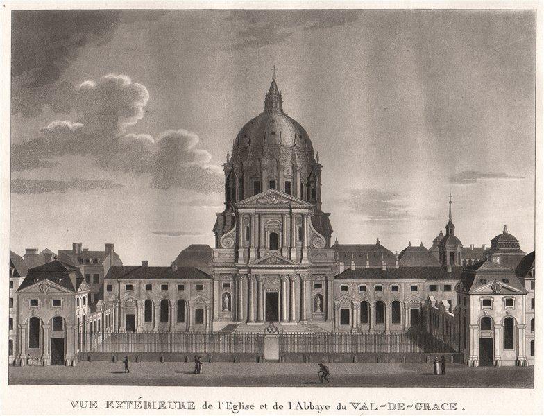 Associate Product PARIS. Eglise et de I'Abbaye du Val-de-Grace. Aquatint 1808 old antique print