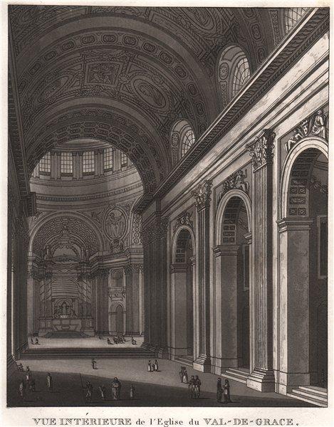 Associate Product PARIS. Eglise du Val-de-Grace. Aquatint 1808 old antique vintage print picture