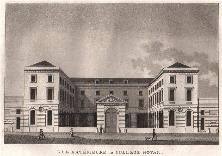 Associate Product PARIS. Collége Royal. Aquatint 1808 old antique vintage print picture