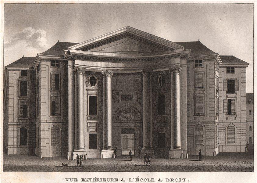 Associate Product PARIS. École de Droit. Aquatint 1808 old antique vintage print picture