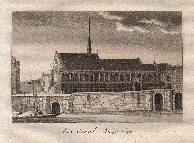 Associate Product PARIS. Les Grands Augustins. Aquatint 1808 old antique vintage print picture