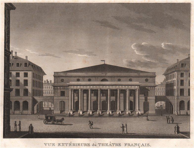 Associate Product PARIS. Theâtre Français. Comédie-Française. Aquatint 1808 old antique print