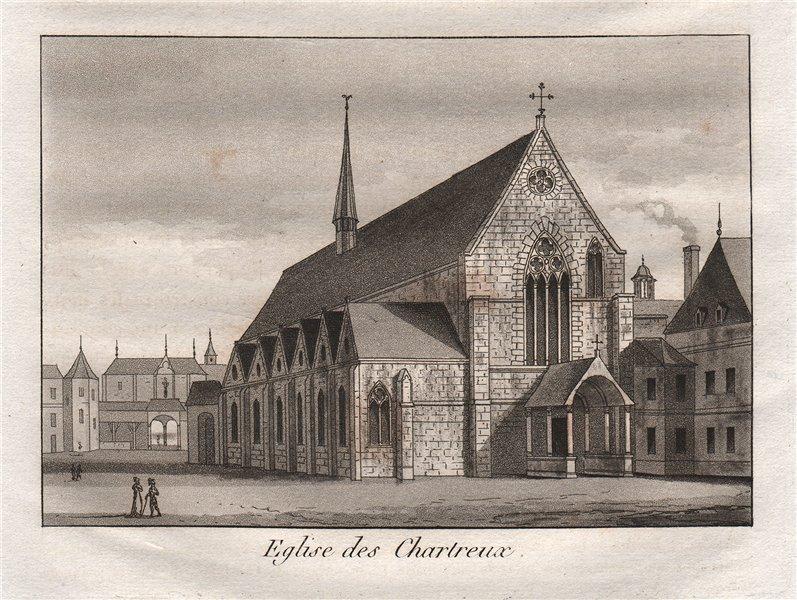 Associate Product PARIS. Eglise des Chartreux. Aquatint 1808 old antique vintage print picture