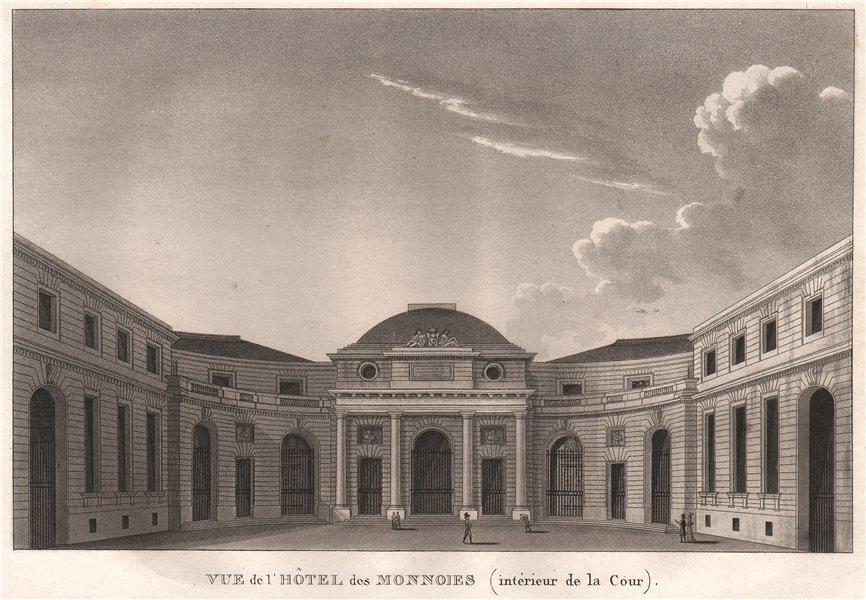 Associate Product PARIS. Hôtel des Monnaies (intérieur de la Cour) . Aquatint 1808 old print