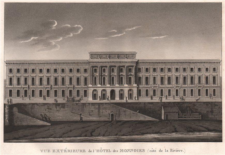 Associate Product PARIS. Hôtel des Monnaies (côté de la Rivière) . Aquatint 1808 old print