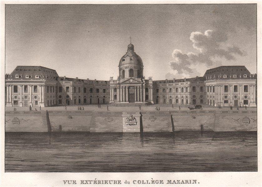 Associate Product PARIS. Collège Mazarin. Aquatint 1808 old antique vintage print picture