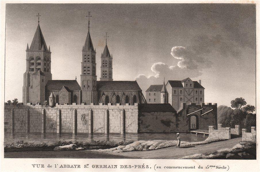 Associate Product PARIS. Abbaye Saint-Germain-des-Prés (c1400) . Aquatint 1808 old antique print
