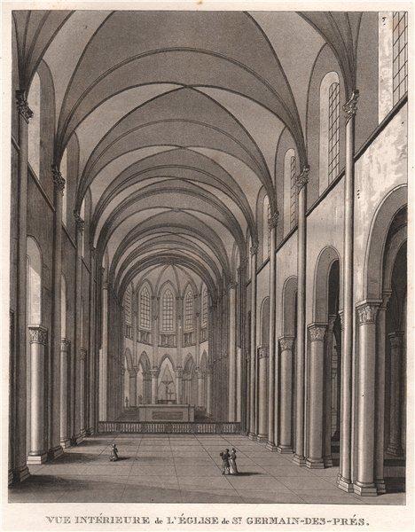 Associate Product PARIS. Eglise de Saint-Germain-des-Prés. Aquatint 1808 old antique print