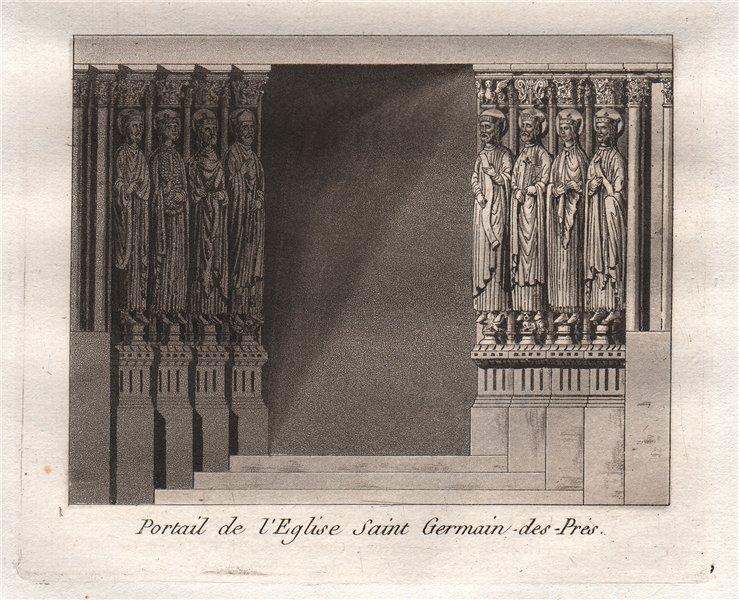 Associate Product PARIS. Portail de L'Eglise Saint Germain-des-Prés. Aquatint 1808 old print