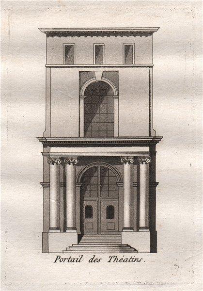 Associate Product PARIS. Portail des Théatins. Aquatint 1808 old antique vintage print picture
