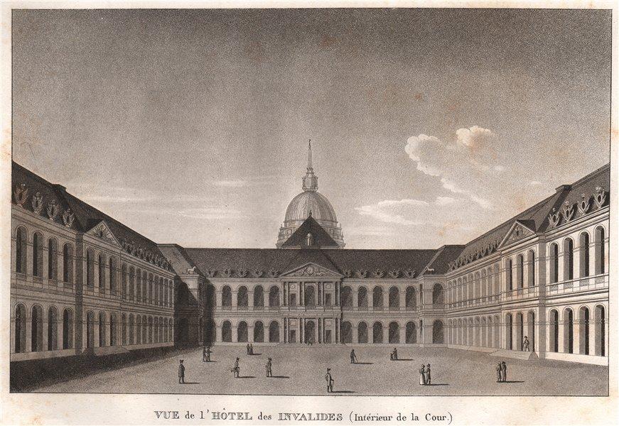 Associate Product PARIS. Hôtel des Invalides (intérieur de la Cour) . Aquatint 1808 old print