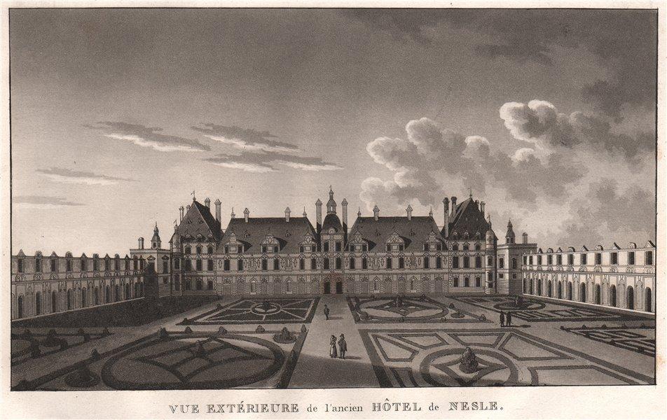Associate Product PARIS. Ancien Hôtel de Nesle. Aquatint 1808 old antique vintage print picture