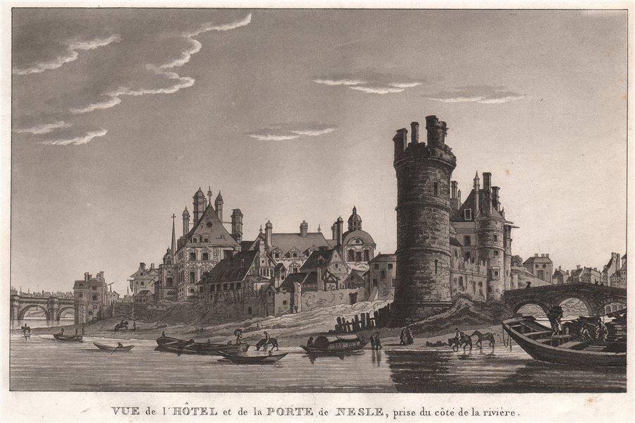 Associate Product PARIS. Hôtel et de la Porte de Nesle, prise du côté de la rivière 1808 print