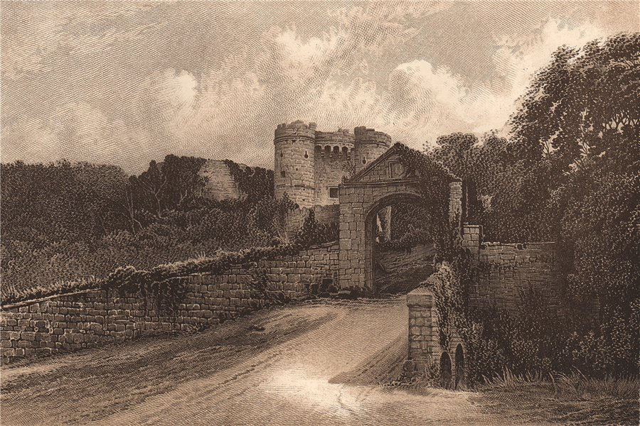 CARISBROOKE CASTLE. Isle of Wight 1893 old antique vintage print picture