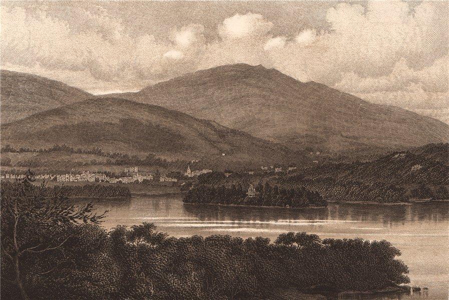 Associate Product DERWENTWATER. Cumbria 1893 old antique vintage print picture