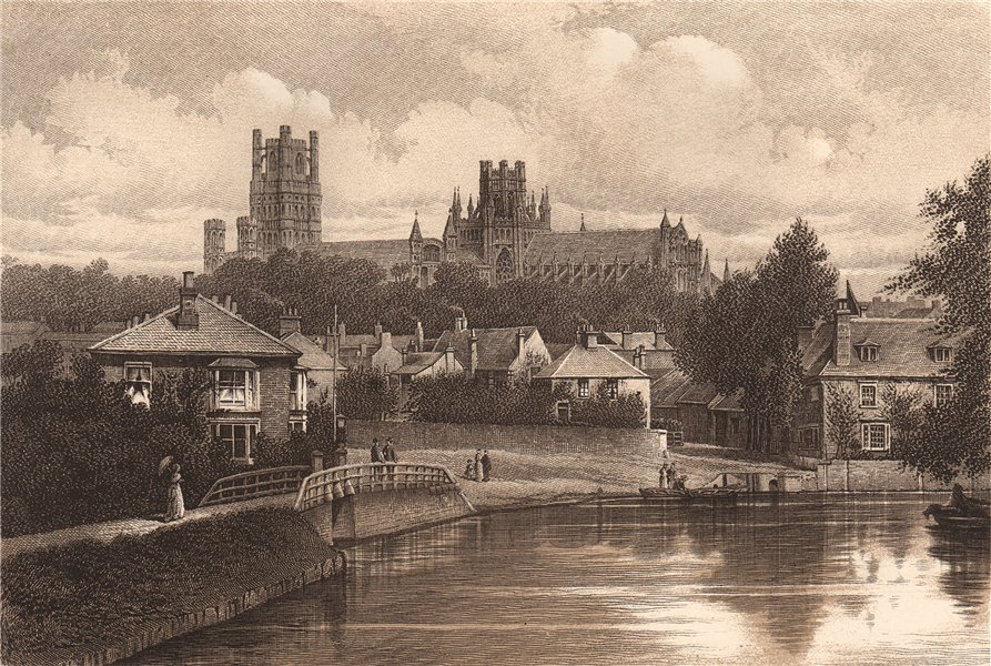 Associate Product ELY CATHEDRAL. Cambridgeshire 1893 old antique vintage print picture