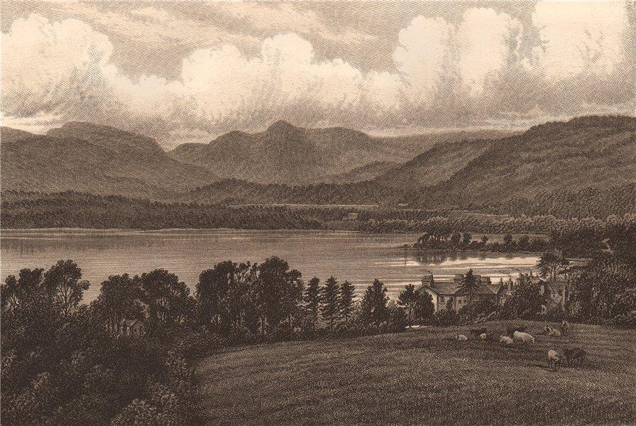 LOWWOOD & LANGDALE PIKES. Cumbria. Lake District 1893 old antique print
