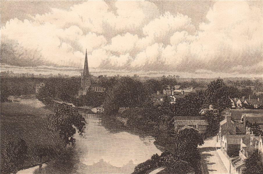 Associate Product STRATFORD ON AVON. Warwickshire 1893 old antique vintage print picture