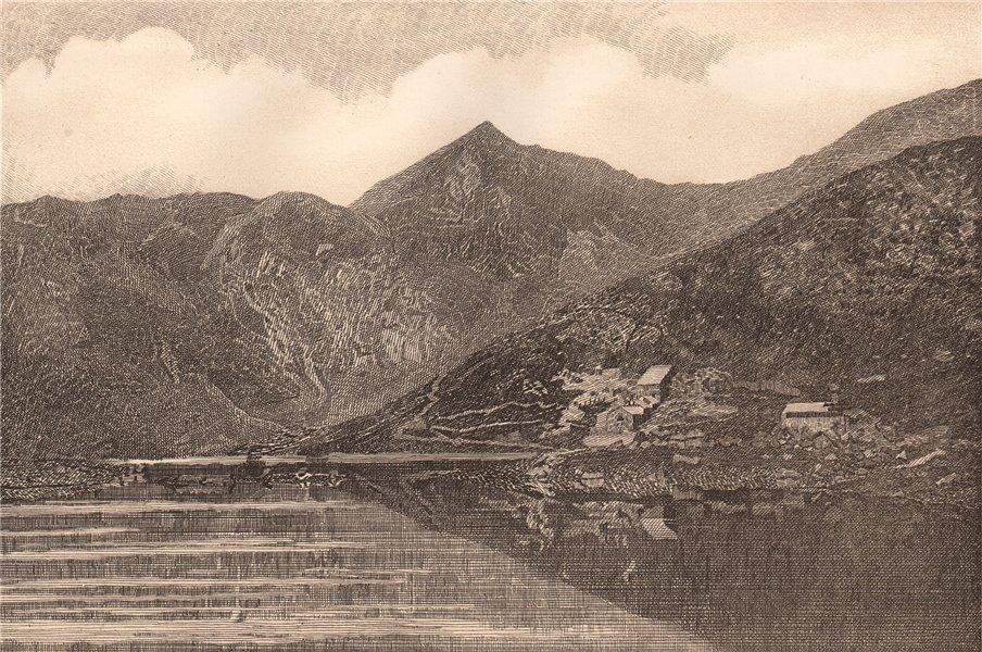 Associate Product SNOWDON. Wales 1893 old antique vintage print picture