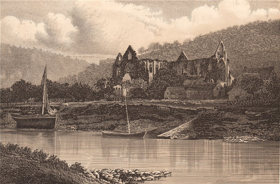 TINTERN ABBEY. Wales 1893 old antique vintage print picture