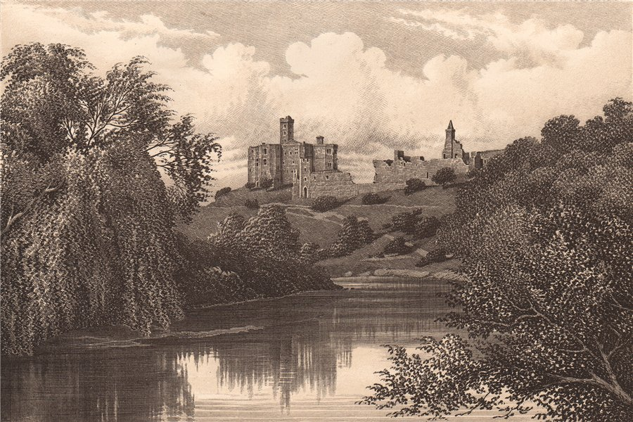 Associate Product WARKWORTH CASTLE, NORTHUMBERLAND 1893 old antique vintage print picture