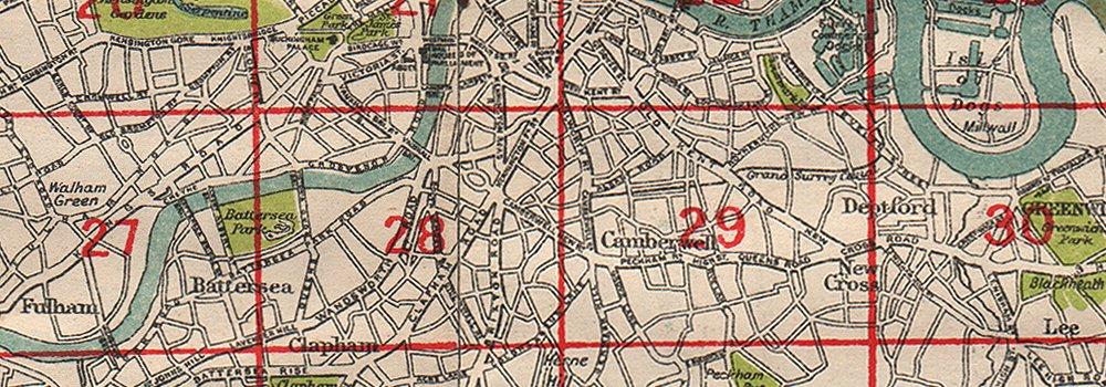 Roads LONDON BACON 1933 old vintage plan chart Index map