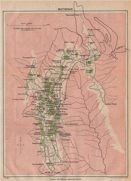 Associate Product BRITISH INDIA. Matheran Hill station. Maharashtra. 1929 old vintage map chart
