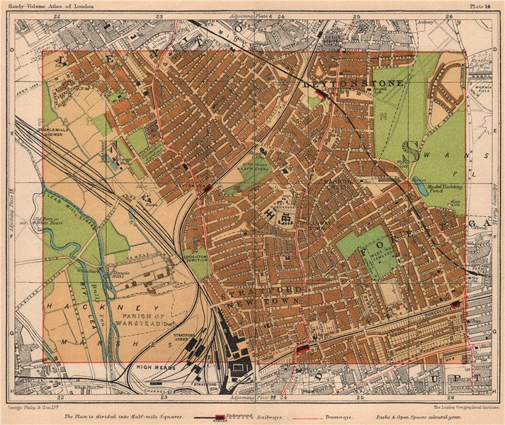 Associate Product NE LONDON. Leytonstone Stratford New Town Forest Gate Leyton 1932 old map
