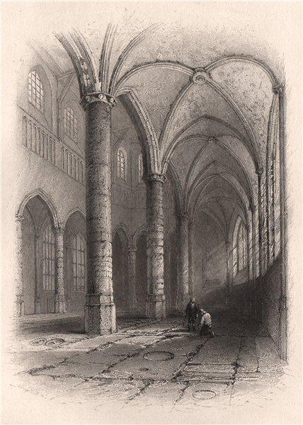 Associate Product Aisle of St. Peters Church, LEIDEN, Netherlands. Pilgrim fathers. BARTLETT 1854