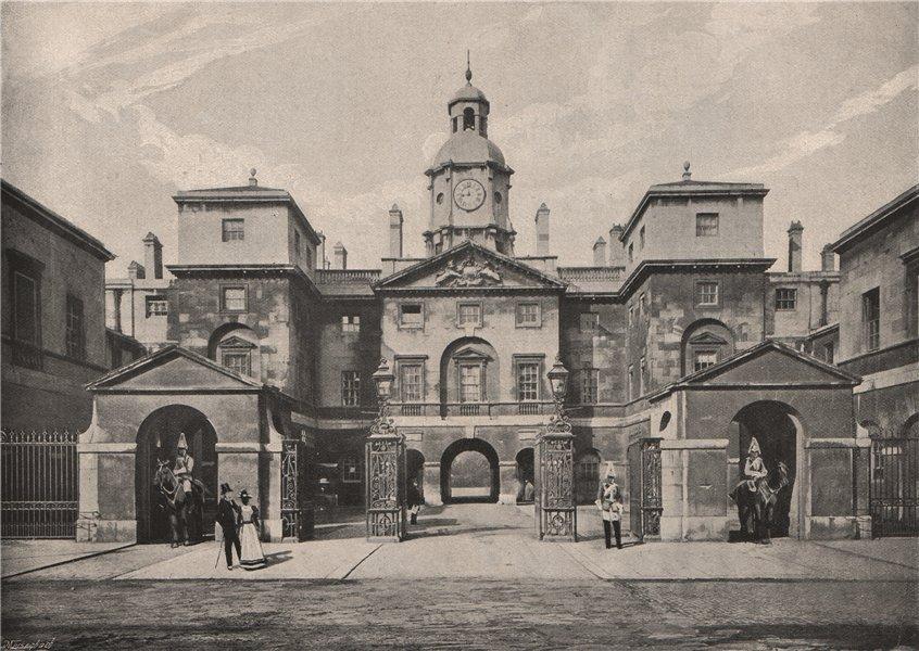 Associate Product The Horse Guards. London. Militaria 1896 old antique vintage print picture