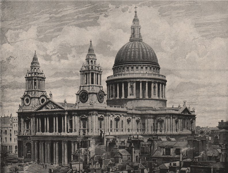 Associate Product St. Paul's Cathedral. London. Churches 1896 old antique vintage print picture