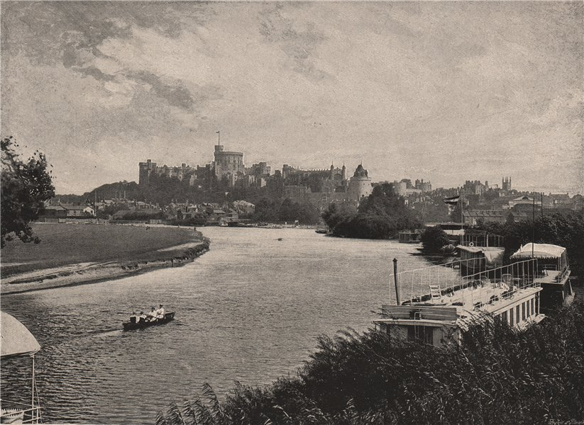 Associate Product Windsor Castle. Distant view. Berkshire 1896 old antique vintage print picture