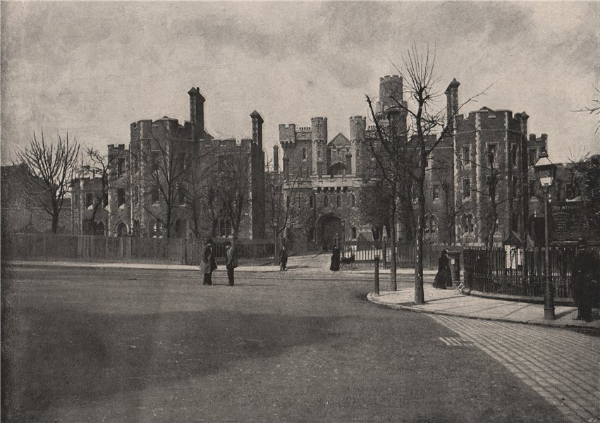 Holloway Gaol. London 1896 old antique vintage print picture