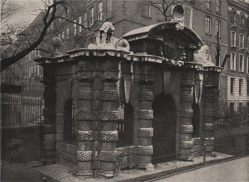 Associate Product The Old Water Gate. London 1896 antique vintage print picture