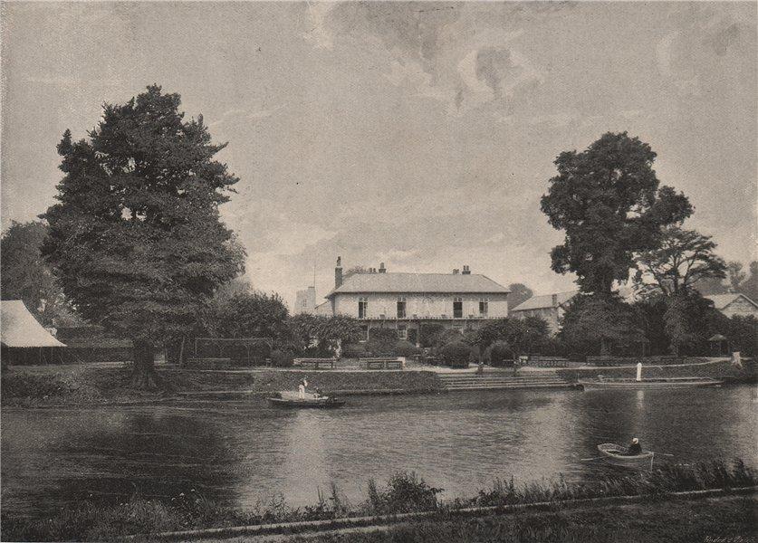 Associate Product Eel Pie Island. London 1896 old antique vintage print picture