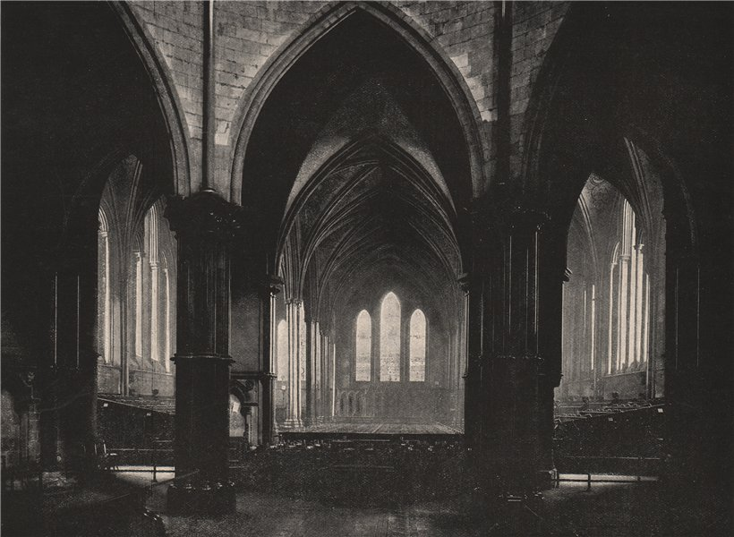 Associate Product Interior of the Temple Church, Looking East. London 1896 old antique print