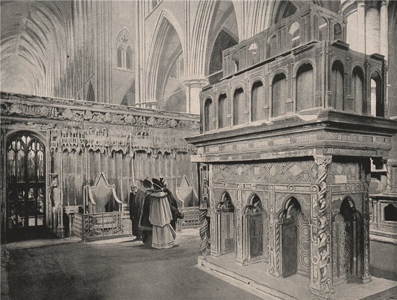 Associate Product Westminster Abbey. Edward the Confessor's Chapel, with the shrine. London 1896