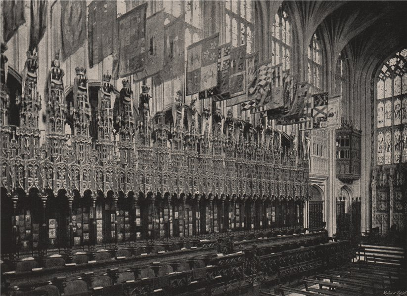 Associate Product St. George's Chapel, Windsor. The Choir. Berkshire. Churches 1896 old print