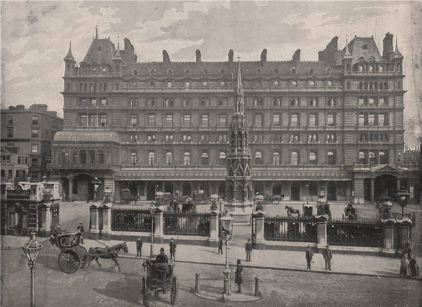 Associate Product The Charing Cross Hotel. London 1896 old antique vintage print picture
