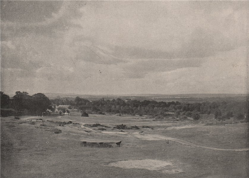 Associate Product Hampstead Heath, from The Flagstaff, looking west. London. Landscapes 1896