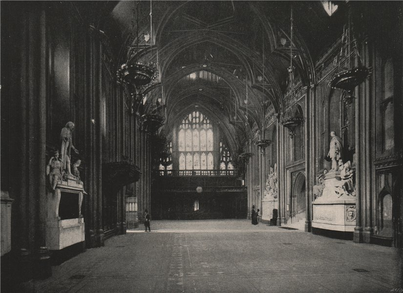 Associate Product Interior of The Guildhall. London 1896 old antique vintage print picture